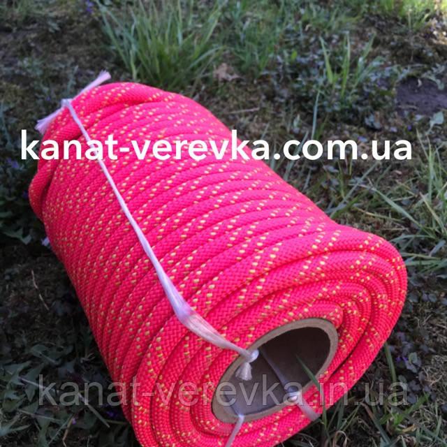 Веревка статическая 10 мм 50 м. Шнур капроновый.