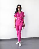 Медицинский костюм Рио розовый, из тонкой ткани