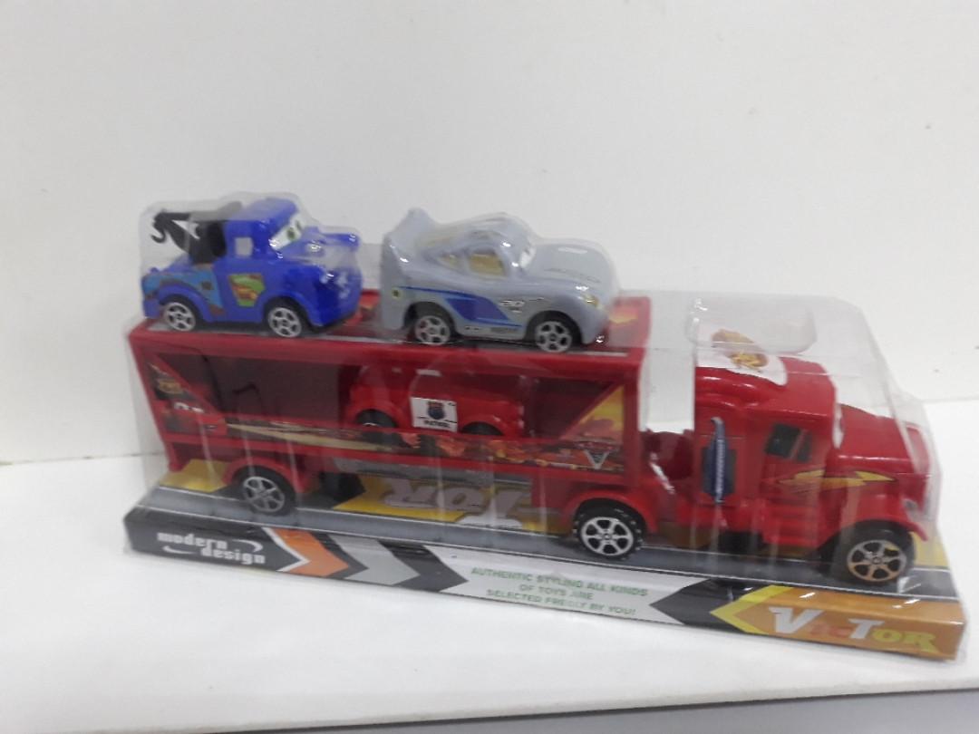 Машинка автовоз трейлер молния маквин