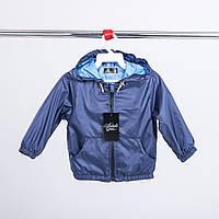 Детская однотонная синяя ветровка