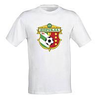 Мужская футболка с принтом футбольного клуба  «Ворскла» S, Белый Push IT