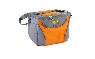 Термосумка GREEN CAMP, сумка-холодильник GC1410-3, сіро-помаранчева, обсяг 15 л