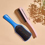 Гребінець для волосся Tangle Teezer Ease dry & go з ручкою Оригінал. Лоскотали Pink, фото 6