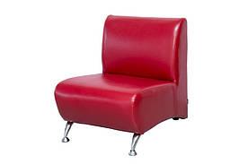Кресло из экокожи Премьера Метро 1 620х760х750 мм Красное (hub_Abia58598)