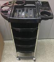 Тележка парикмахерская на 4 полочки с металлическим каркасом, фото 1
