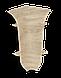 Плинтус пластиковый Lineplast L026 Дуб мокко с кабель каналом напольный пластиковый плинтус, фото 4
