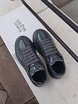 "Кросівки Alexander McQueen Grey Patent ""Сірі"", фото 3"