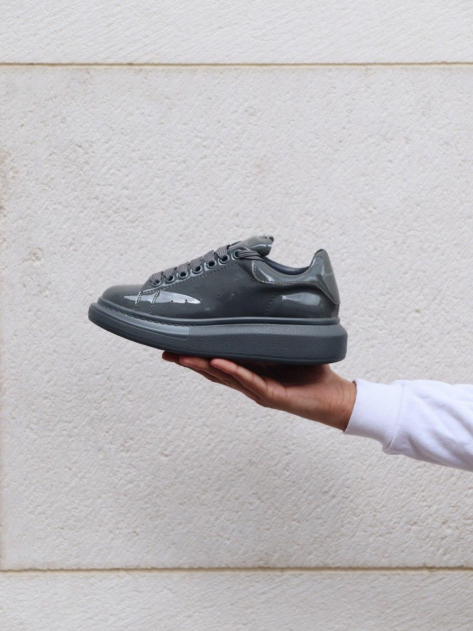 """Кросівки Alexander McQueen Grey Patent """"Сірі"""""""