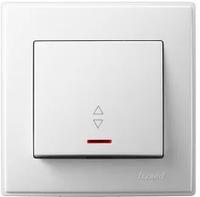 Lezard LESYA выключатель белый одинарный с подсветкой проходной