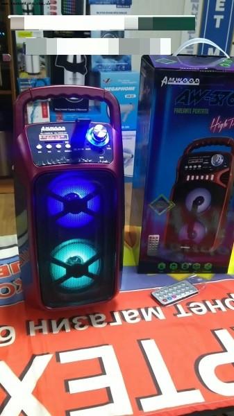 Портативная колонка AW3760 ДУ, Bluetooth, FM радио