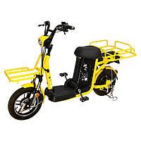 "Электро-велоскутер грузовой SZOUX GIANT, желтый ( аккумулятор 48V 20Ah (960Wh), колеса 14"", моторколесо 350W)"