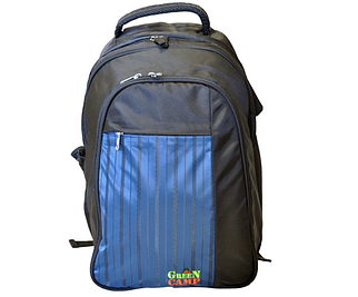 Сумка для пікніка, рюкзак-пікнік GREEN CAMP на 6 осіб, колір чорно-синій