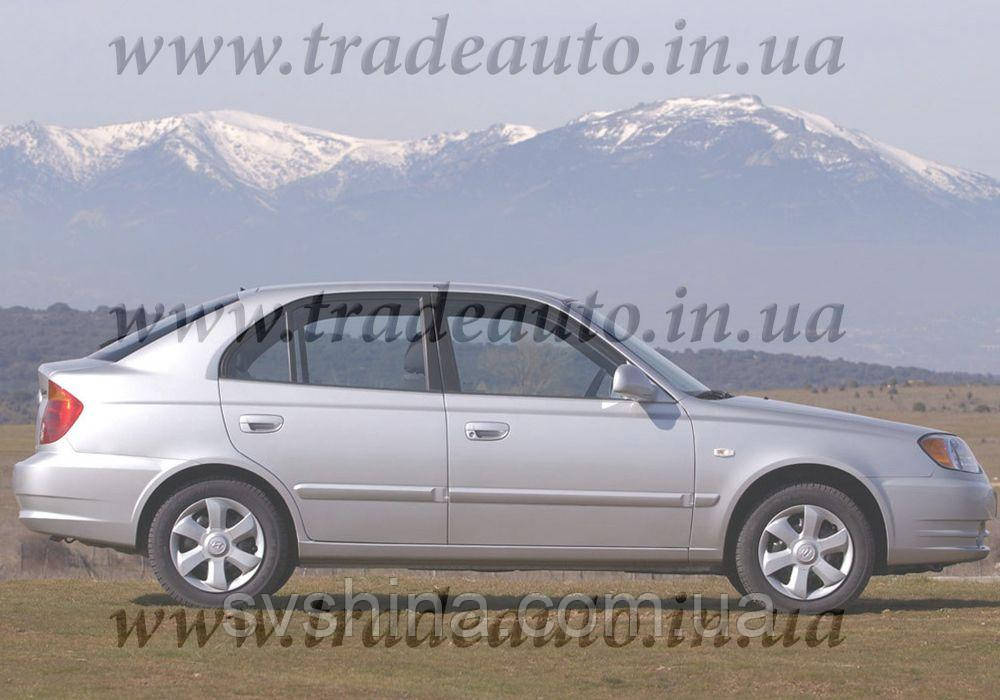 Дефлекторы окон Heko на Hyundai  Accent 2000-2006
