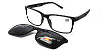 Оптические очки с поляризованной накладкой на магните