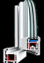 Металлопластиковые ПВХ конструкции, профиль VEKA EuroLine-Plus 60