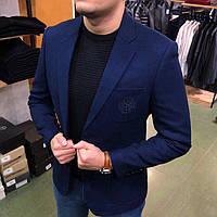 Брендовый мужской пиджак Stefano Ricci P0278 темно-синий