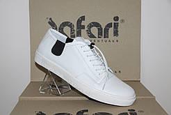Мужские кеды Safari белые 36505 кожаные