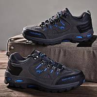 Мужские осенние кроссовки со вставками на шнурке не пропускают воду весна осень