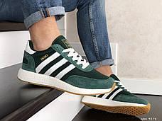 Мужские кроссовки в стиле Adidas Iniki Green/White Зеленые с белым, фото 2