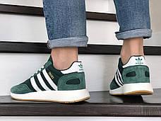 Мужские кроссовки в стиле Adidas Iniki Green/White Зеленые с белым, фото 3