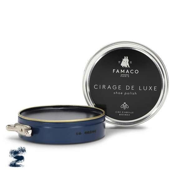 ✅ Темно-синяя паста для обуви Famaco Cirage De Luxe, 100 мл