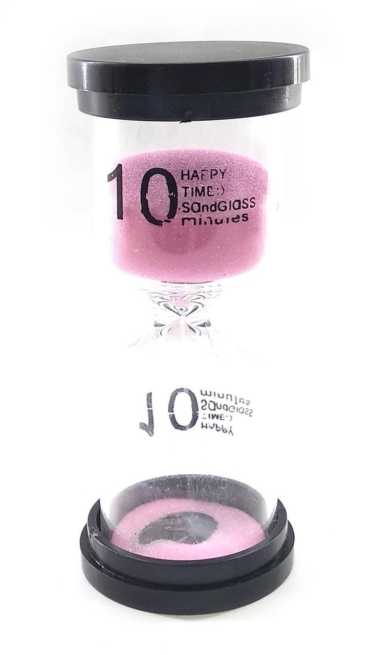 Часы песочные 10 мин розовый песок (10,5х4,5х4,5 см)