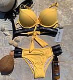 Раздельный яркий женский купальник со стразами, фото 3