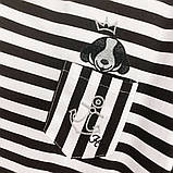 Футболка женская норма в полоску из натуральной ткани р.42-46 код 731Г, фото 5