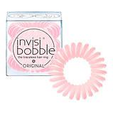 Резинка-браслет для волосся Invisibobble. Продаж від 1 штуки. Оригінал! Матова рожева, фото 3