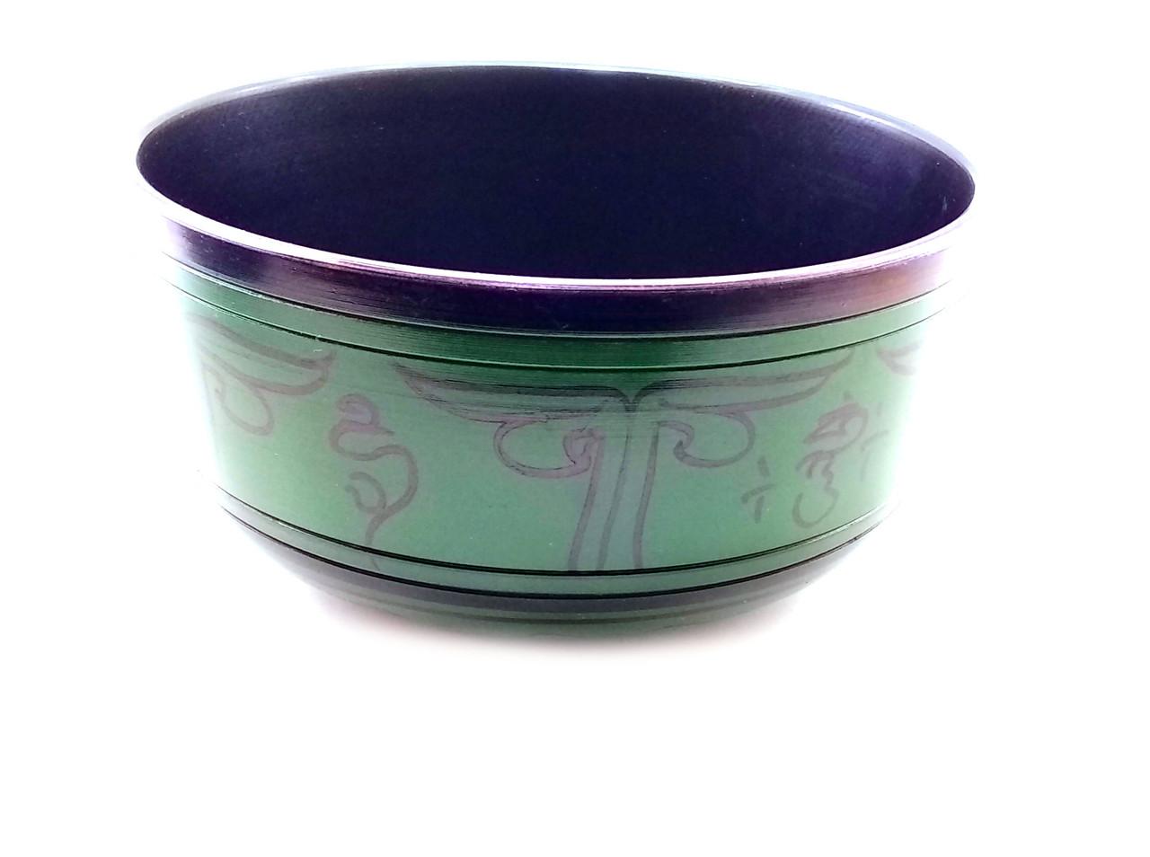 Чаша поющая темно зеленая (d-19,5 см h-10 см)
