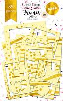 Набір рамок з фольгуванням - №1 Yellow - Fabrika Decoru - 39 шт.