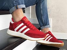 Мужские кроссовки в стиле Adidas Iniki Red/White Красные с белым, фото 2