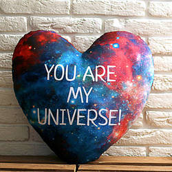 Подушка сердце You are my universe! 37x37, 57x57 (4PS_15L036)