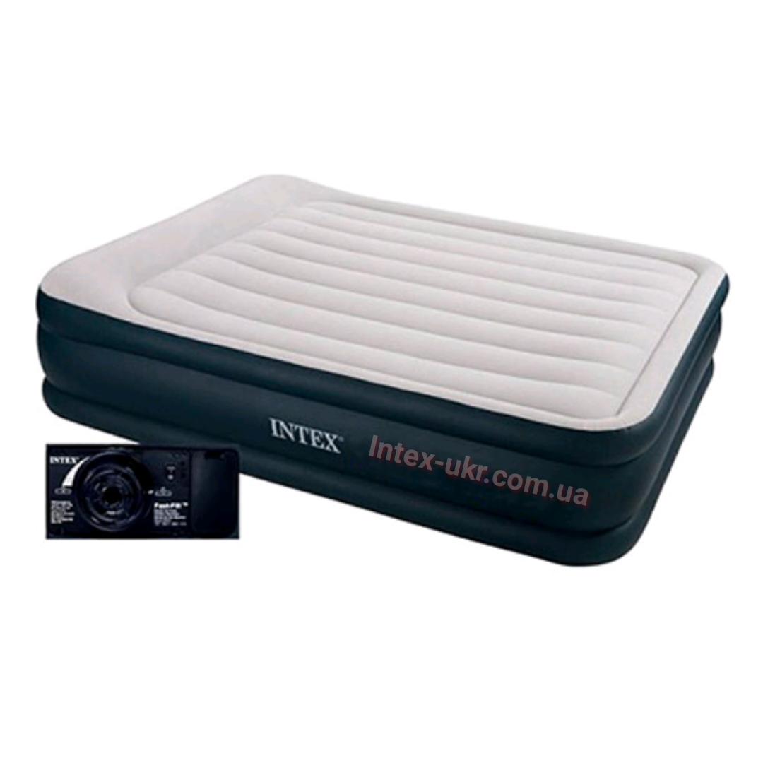 Надувная кровать со встроиным насосом Intex 64136 152x203x42 см.