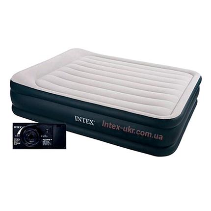 Надувная кровать со встроиным насосом Intex 64136 152x203x42 см., фото 2