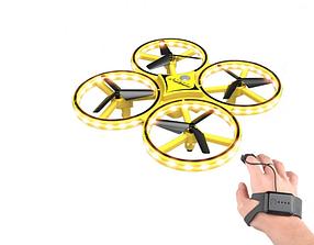 Квадрокоптер с перчаткой управления рукой и датчиками препятствий Drone 928