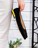 Туфли на низком ходу с желтым каблучком, фото 2
