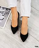 Туфли на низком ходу с желтым каблучком, фото 3