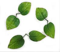 Небольшие листья сирени искусственные 2-ка(1уп=50шт,цвет зеленый с красным)., фото 1