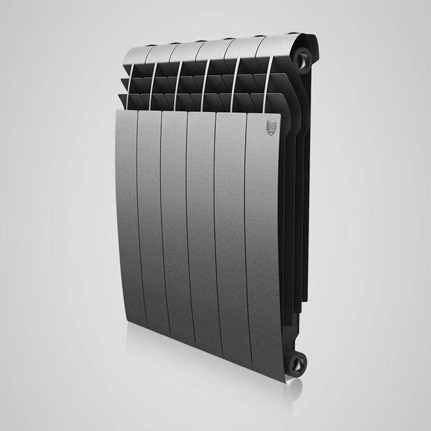 Радіатор біметал BiLiner 500 new 10 секцій/Silver Satin Royal Thermo