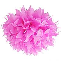 Помпон розовый 35 см., для вечеринки Baby Shower