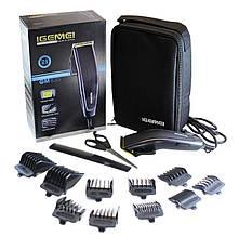 Машинка для стрижки волос Igemei GM-836, 10 насадок