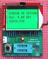 Транзистор тестер ESR, LCR тестер ezm328 v1.10 тестер для конденсаторов (GM328R) частотомер
