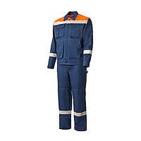 Костюм рабочий (куртка + штаны). Синий, 100% хлопок. Спецодежда 48