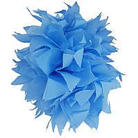 Помпон голубой 35 см., для вечеринки Baby Shower