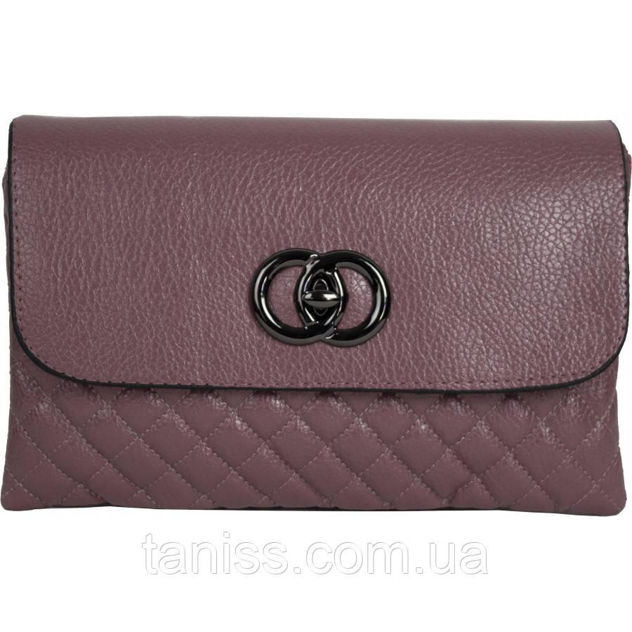 Женский,стильный клатч,материал кожзам,,одна короткая ручка,ремень,два отделения (2881 )розовый, 3 цвета