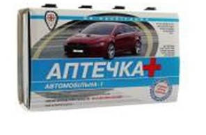 Аптечка автомобильная-1(без БТФ) (твердый футляр)