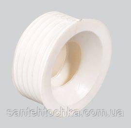 Сантехнічна редукція 50х32(манжет) белая, фото 2
