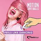 Виброяйцо Remote Controlled Motion Love Balls Twisty, фото 3