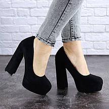 Туфлі жіночі на високому підборі Fashion Night 1381 40 розмір 25,5 см Чорний, фото 3